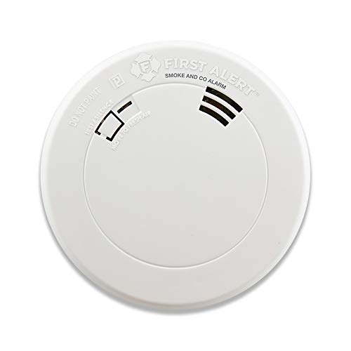 FIRST ALERT BRK PRC710V Talking Smoke and Carbon Monoxide Alarm with Built-In 10-Year Battery , White