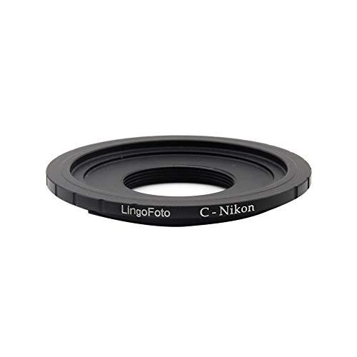 LingoFoto C-AI C-Mount - Anillo adaptador de lente para cámara DSLR AI F AI D4S D3 D3X D3S D800 D700 D100 D7100 D3200 D5000