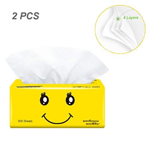 2 paquetes Toallas de Papel, Papel Higienic,300 hojas/4 capas Papel de Baño,súper...