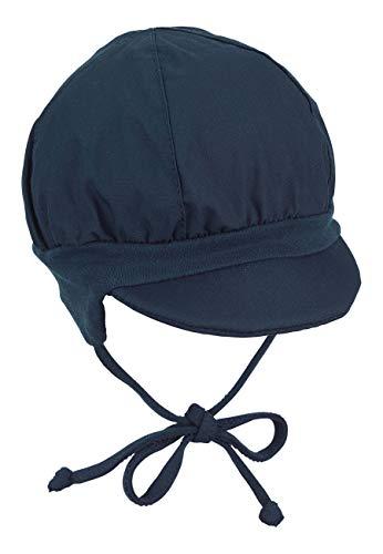 Sterntaler Ballonmütze für Jungen mit Bindebändern und Ohrenklappen, Alter: 3-4 Monate, Größe: 39, Blau (Marine)