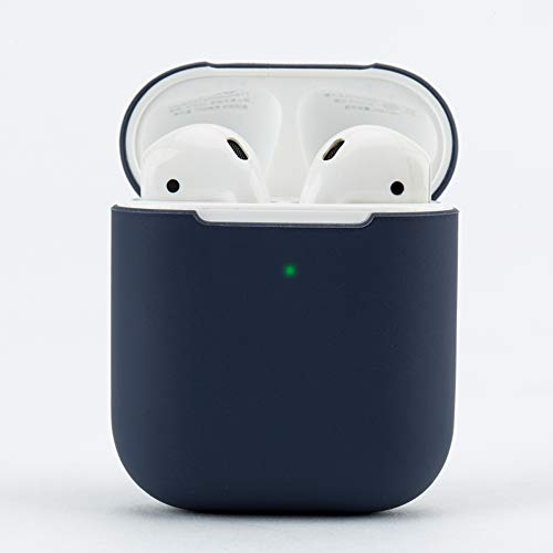 damonlight kelly01291 Damon Schutz podskin airpods Fall stoßfest Soft Skin für airpods Ladekabel Case (Midnight Blue)