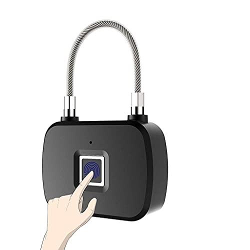 HNBMC Wodedan Mini Dactilar Padlock sin Llave Smart Lock Security Anti-Robo de Seguridad para Puerta Equipaje Equipo Gimnasio Armarios Bicicletas Bicicleta Lámpara-39234N4A0Q