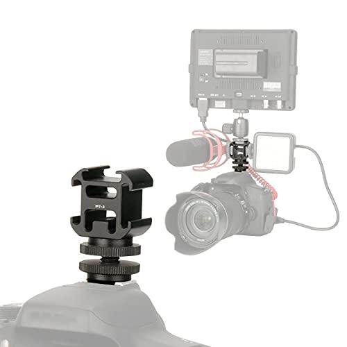 Aluminium Dreifach Blitz Blitzschuh Kamera Halterung Adapter Video Zubehör Dreifach Schuh Halterung Mikrofon Halterung Feld Monitor Halterung Halter Ständer für Lichter, LED Monitore, Mikrofone
