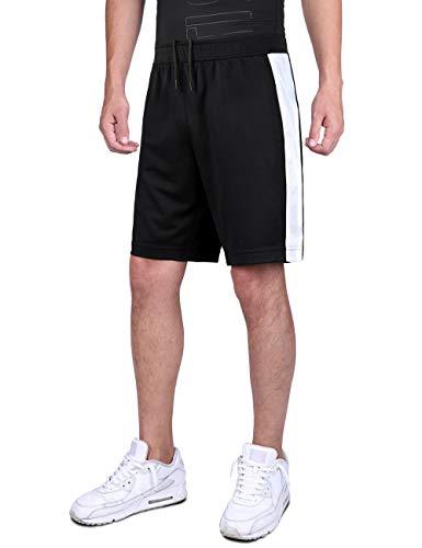 DISHANG Pantaloncini da Basket Performance da Uomo Attivi da Ginnastica Leggeri da Allenamento...