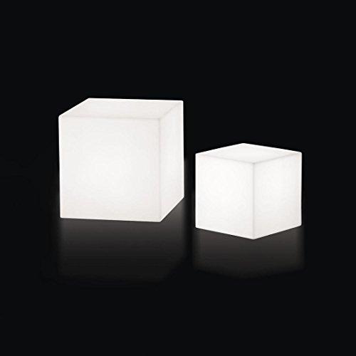 CUBO - Cube lumineux d'extérieur Blanc H30cm - Luminaire d'extérieur Slide designé par