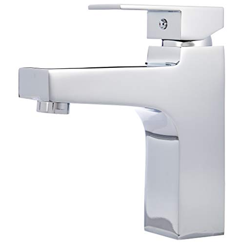 Amazon Basics - Mezclador de grifo de cuarto de baño moderno, cromo pulido