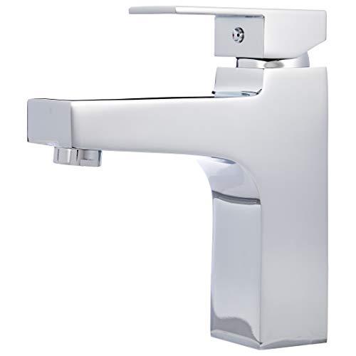 Amazon Basics - Moderner Wasserhahn für das Badezimmer - poliertes Chrom
