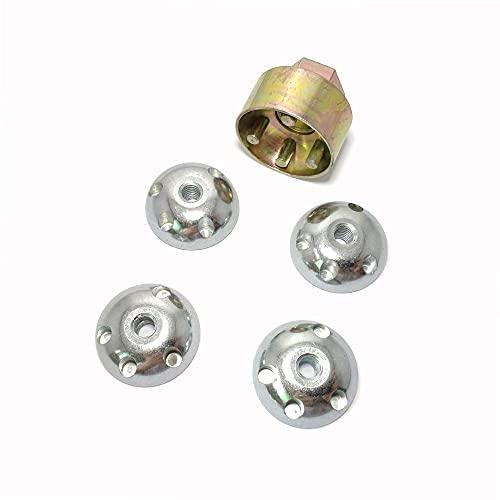 M6 Anti-Theft Lock Nuts, Bicyle Truck Car Security Lock Nuts, Tamper Proof Nuts, M6 Antitheft Lock Hardware Kit (4 Locks + 1 Key)