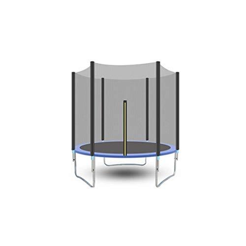 LMM Trampoline Bestanden Das Sicherheits Cover Test mit Sicherheitsnetz Runder Garten-Trampolin mit Leiter und Cushioned Pole Außen Blau 306 cm Trampolin