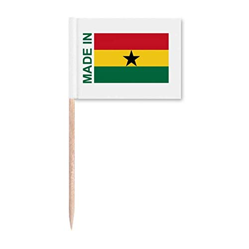 Gefertigt in Ghana Country Love Zahnstocher Flaggen Marker Topper Party Dekoration