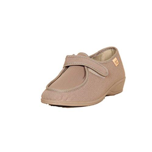 DOCTOR CUTILLAS 706 Zapatilla Velcro Confort Mujer Tostado 38