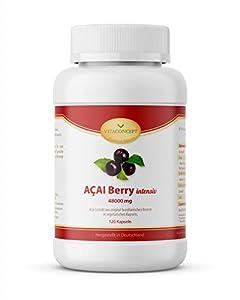 VITACONCEPT ACAI Berry - 120 cápsulas de baya de acai - Mejor el bienestar, pérdida de peso y efecto antiedad - 8000 mg