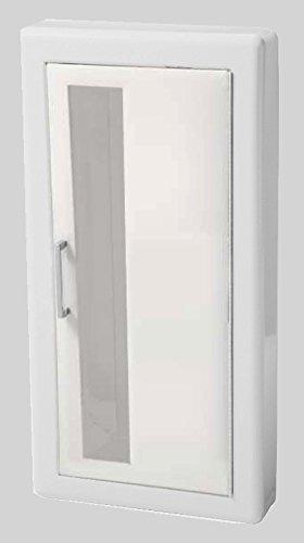 Jl Industries Fire Extinguisher Cabinet White, Semi-Rec, 3