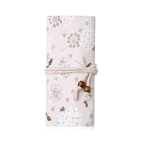 Pinceles de maquillaje únicos de 10 unids con bolsa de madera blanco mango de madera suave lana biónica polvo cimientos de pinceles sombreado maquillaje brochas (Handle Color : C)