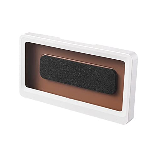 Baño Caja impermeable para teléfono móvil Soporte autoadhesivo Pantalla táctil Pared del hogar Baño Carcasa del teléfono Caja de almacenamiento con sellado de ducha-Blanco, Francia