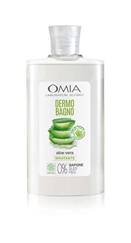 Omia Dermo Bagno Eco Bio con Aloe Vera del Salento, Bagnoschiuma Delicato e Rinfrescante, Dermatologicamente Testato, Formula Vegana e Nichel Free, Dermatologicamente Testato, Flacone da 400 ml