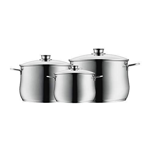 WMF 07.3003.6040 Diadem Plus-Batería de Cocina (3 Piezas), Acero Inoxidable, 3 Piece (Reacondicionado)