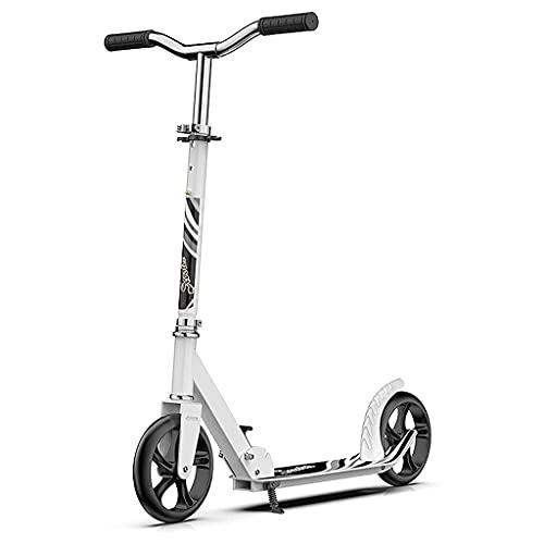 Patinete freestyle Scooter de patada de cercanías con ruedas grandes, cubierta de goma antideslizante, manillar de garras plegables ajusta el scooter de estilo libre plegable  para adultos niños niño
