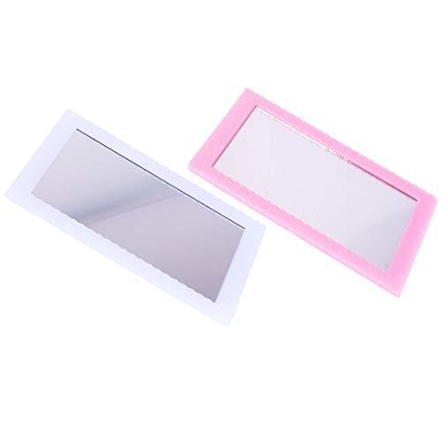 Beaupretty 2 Pcs Miroir de Maquillage Portable Simple Feuille Magnétique Miroir Compact pour Voyage Vanité Table Décoration de La Chambre (Couleur Aléatoire)