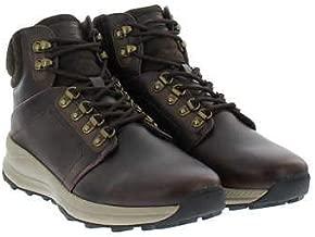 Khombus Men's Leather Memory Foam Lightweight Hiker Boot (Brown 11)