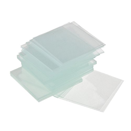 kesoto 100 Pieces Blank Microscope Slides 20x20mm Square Coverslips Cover Glass, Non-fogging, Non-Sticking and No Bubbles, Scratches