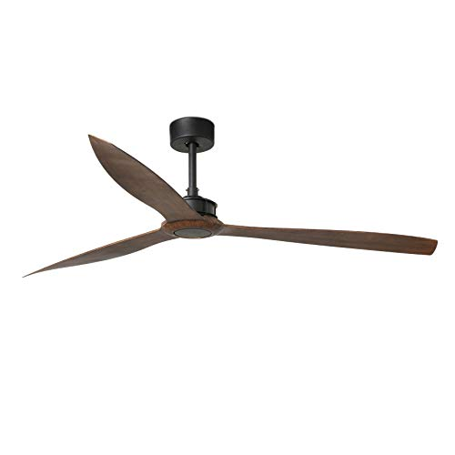 FARO BARCELONA 33430 - Just Fan Ventilador de Techo Negro Mate/Madera 178cm