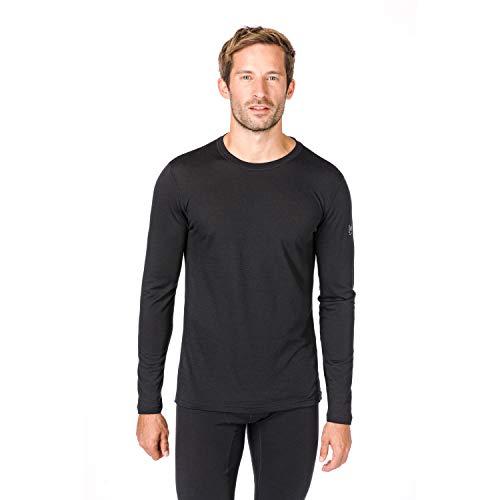 Super.natural Tee-shirt Manches Longues pour Hommes, Laine mérinos, M BASE LS 140, Taille: M, Couleur: Noir