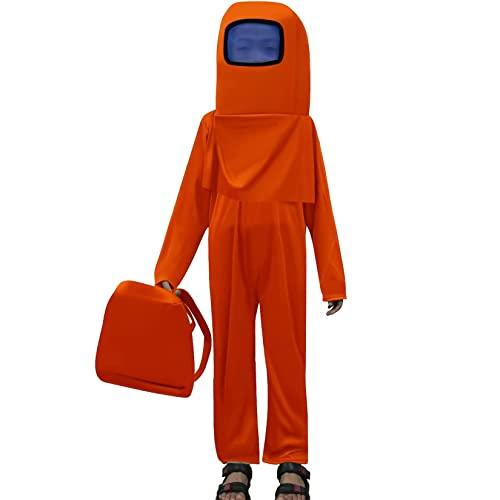 NXLWXN A-mong - Mono de juego con mochila y casco para cosplay, Halloween, color naranja, M