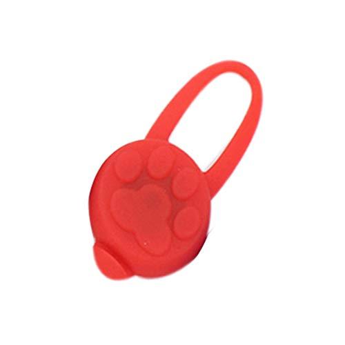 Diamoen Collar de Caucho de Silicona LED para Mascotas Luces Colgantes de Silicona Noche doméstico del Gato del Perro de la Seguridad del Collar Que Brilla Luminoso Colgante