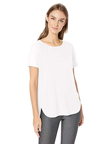 Amazon Essentials Studio Relaxed-Fit Crewneck T-Shirt Fashion-t-Shirts, Blanco, Large