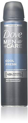 Dove Men + Care Cool Fresh Spray Deodorant & Anti-Perspirant 150ml / 5.07 Oz International Version (Set of 6)