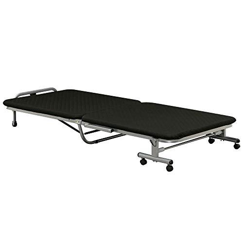アイリスオーヤマ ベッド 折りたたみベッド シングル 収納 ブラック OTB-E