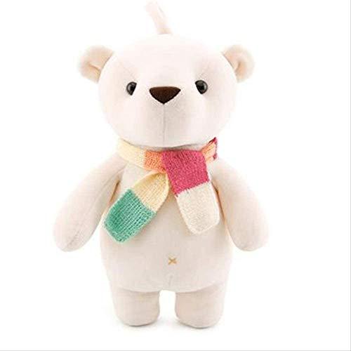 Junsansir Kuscheltiere 35cm Bärenpuppe Weiches Plüschtier Kaninchen Plüschpuppen Kinderspielzeug für Kinder Weiß