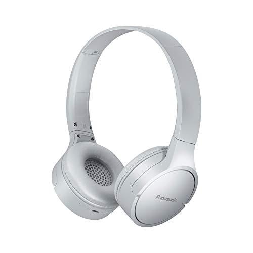 Panasonic RB-HF420 - Auriculares Bluetooth (On-Ear, Carga rápida, 50 Horas de duración de la batería, Ligeros, Asistente de Voz), Color Blanco
