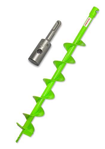 WERHE Erdbohrer 100 mm mit SDS Plus Aufnahme robuste Bohrspitze Pfahlbohrer Bohrer