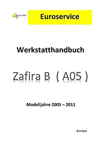 E-Tech REPARATURANLEITUNG/WERKSTATTHANDBUCH (CD) OPEL Zafira B