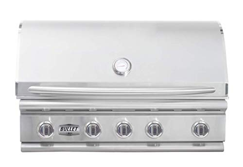 Bullet by Bull Outdoor Products 48209 Yukon Bullet by Bull 5 Burner Grill Natural Gas, Stainless Steel