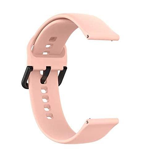 Pulsera de silicona para Xiaomi Amazfit Gts Bip Gtr, correa de muñeca de 42mm para reloj inteligente Xiaomi Amazfit GTS 2 BipS para Garmin Vivoactive3 (Pink)