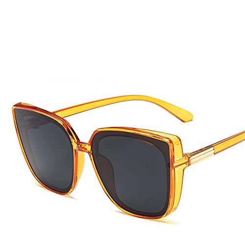 YWSZY Gafas de Sol Gafas de Sol de Gran tamaño Señoras Retro Square Sunglasses Sunglasses de Sol (Lenses Color : Orange)