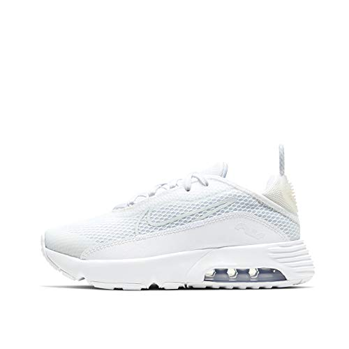Nike Air MAX 2090 (PS), Zapatillas para Correr, White White Wolf Grey Pure Platinum White, 27.5 EU