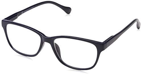 UV Reader Marineblau Leicht Kurzsichtigkeit Fernbrille Designer Stil Herren Frauen Mit Etui UVMR027 -2,50