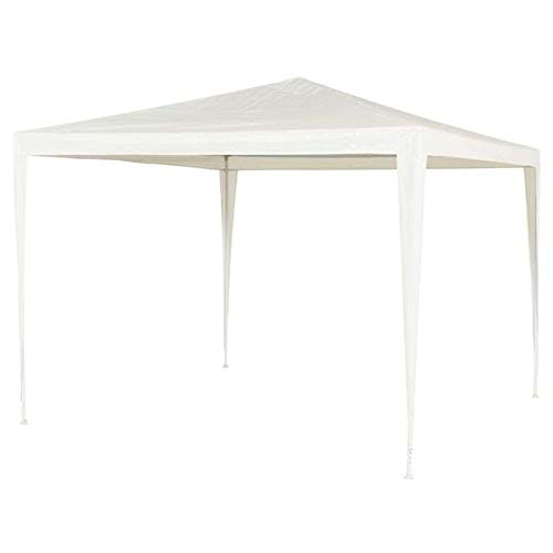 Party Tent Gazebo 3x3m – Outdoor Garden Marquee with Water-resistant Cover Canopy, Frame, Pegs - Easy Assembly Design - White