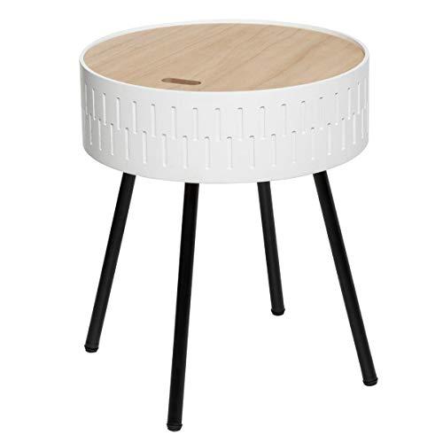 Atmosphera Table à café Coffre Blanc Shiro