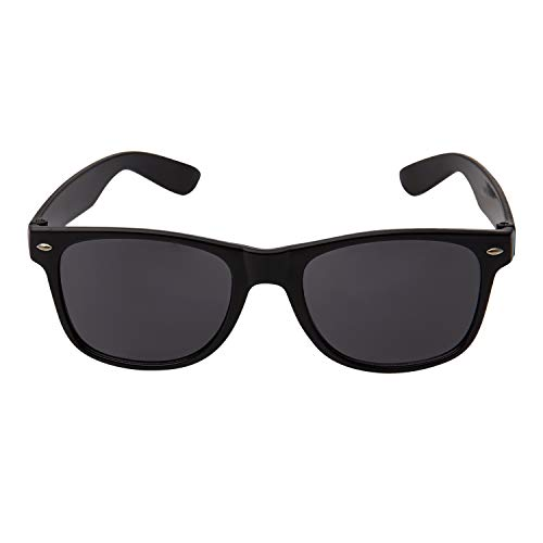 Ultra Adults Black Sunglasses - with Black Lenses Unisex Retro 80s Vintage Style Cool Sunglasses Men and Women Can Wear Classic Oval Sunglasses Man Sunglasses Women UV400 Protection Eyewear Shades