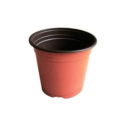 XQK 10pcs Planta Plástico Macetas, Semillero Partir Recipiente De Drenaje Agujero Ollas Jardinería Jardineras Accesorios para La Terraza del Césped