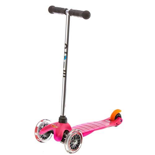 Micro Kickboard - Mini Original 3-Wheeled, Lean-to-Steer, Swiss-Designed Micro Scooter for Preschool Kids, Ages 2-5, Pink