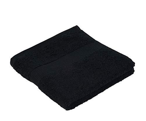 Gözze Handtuch 2er-Set, 100% Baumwolle, 50 x 100 cm, New York, Schwarz, 550-1000-A4