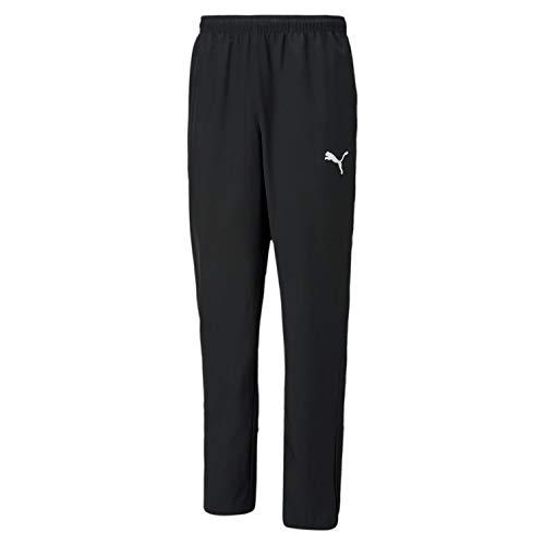 Puma Herren teamRISE Sideline Pants Jogginghose, Black White, XXL