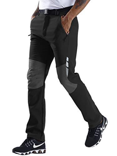 CARETOO Pantaloni Trekking Uomo Asciugatura Rapida Softshell Montagna Escursionismo Caldo All'aperto Impermeabile Outdoor