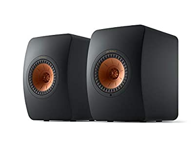 KEF LS50 Wireless II - Active wireless stereo speaker system (Carbon Black) | HDMI | Airplay 2 | Bluetooth | Spotify | Tidal from Kef